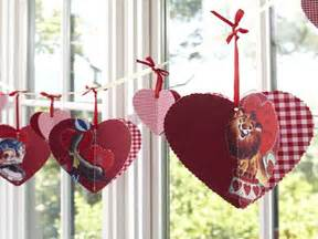 Valentine Decorations To Make At Home easy to make cute valentines day decoration red heart decorations