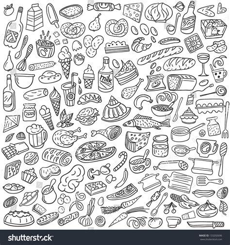 doodle food vector food doodles stock vector 133292696