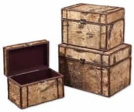 decorative boxes uttermost uttermost birch bark decorative boxes set 3 by