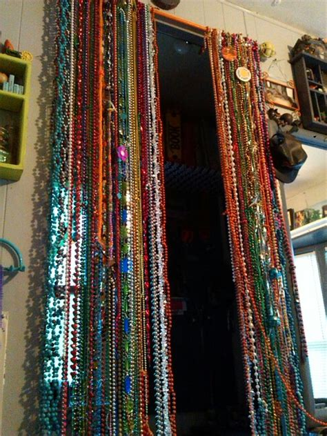 Diy Beaded Door Curtains Beaded Curtain Diy Mardi Gras Curtain Rod Time Still Working On It My Creations