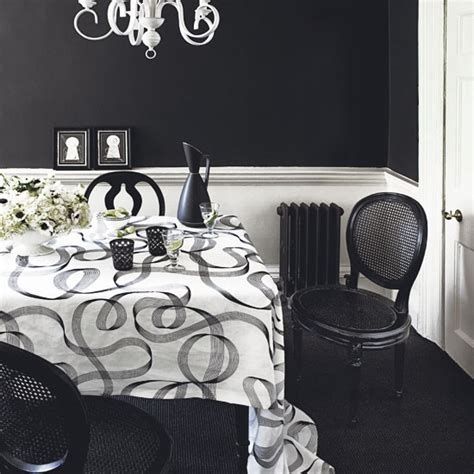 2012 black and white dining room ideas