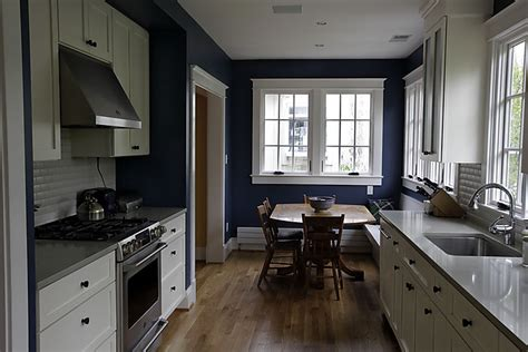Dark Blue Kitchen Walls by Richmond Thrifter Design Dilemma Huntington Wv