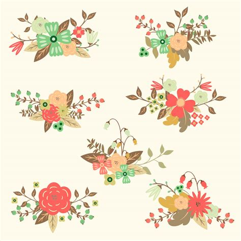free floral images free vector floral hand drawn set free download