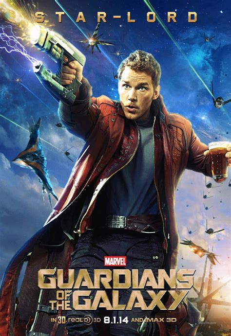 quills movie poster star lord peter quill chris pratt guardians of the