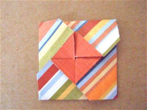 Folded Square Origami Paper - square paper folding bloomize
