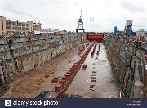 electric boat new york new york shipyard ikea brooklyn ny empty dry dock stock