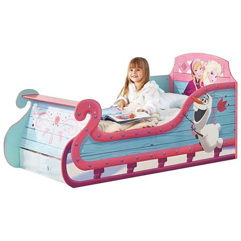 disney frozen toddler bed disney frozen sleigh toddler bed with storage mattress
