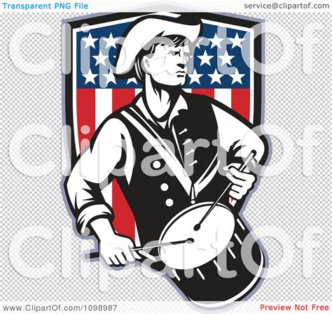 clipart retro american revolutionary war soldier patriot