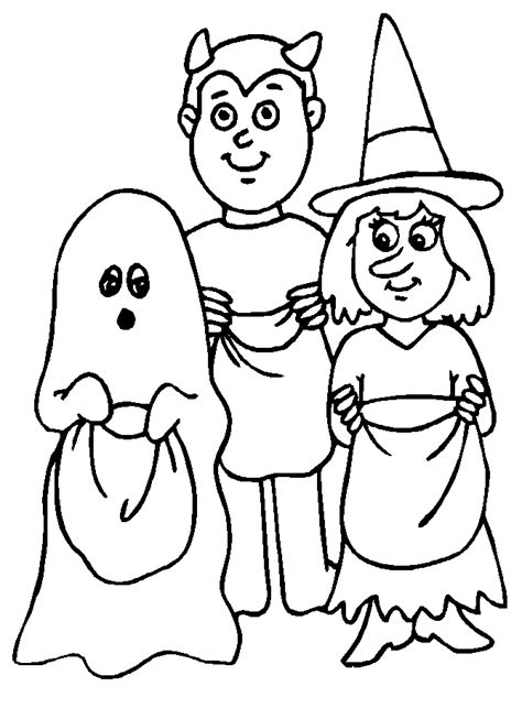 halloween coloring pages trick or treat halloween colorings
