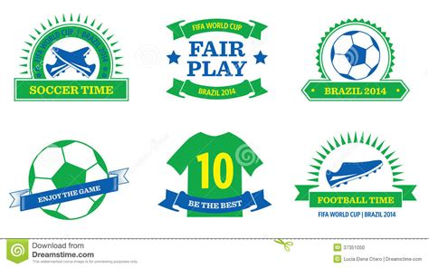 world cup 2014 badges stock vector image of fifa