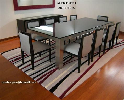 hermoso comedor arciniega  moderna mesa de acero