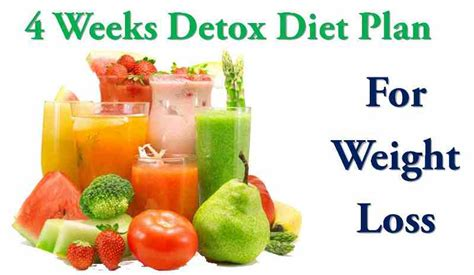 Sle Detox Diet Weight Loss by 4 Week Detox Diet Plan For Weight Loss Do S Don Ts
