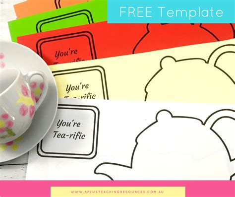 teapot card template s day mothers day teapot card