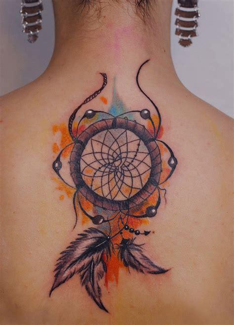 dream catcher tattoo in back 40 dreamcatcher tattoos on back