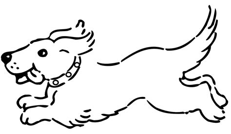 dog running coloring page dog clip art black and white animals clip art