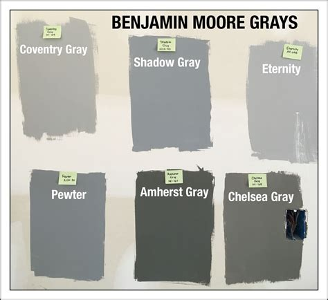 benjamin color swatches benjamin gray paint swatches coventry gray hc 169