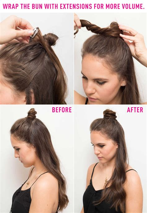 hairstyles with extensions tutorial 16 genius half bun hacks you need to know about half bun