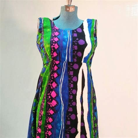 Handmade Maxi Dresses - vintage vintage 1970s handmade hawaiian maxi dress from