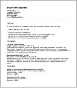 library volunteer sle resume sle resume career