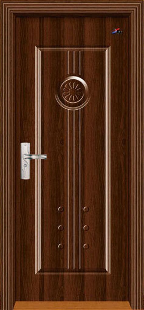 china steel skin wooden edge door with finish veneer xy