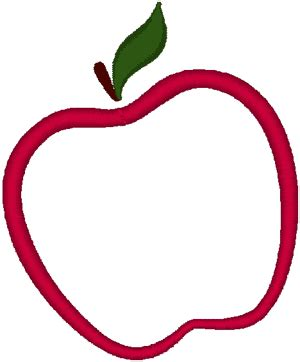 Apple Outline by Apple Outline Embroidery Design