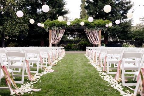 outdoor wedding ceremony decoration ideas on a budget unforgettable garden wedding decor