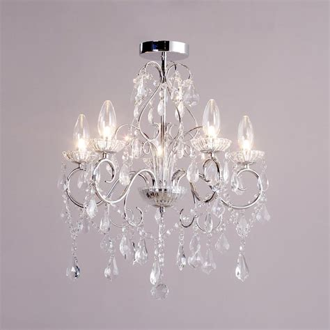 5 Light Modern In Chrome Decorative Bathroom Chandelier Chandelier For Bathroom
