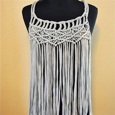 Macrame Weave - macrame and jersey on