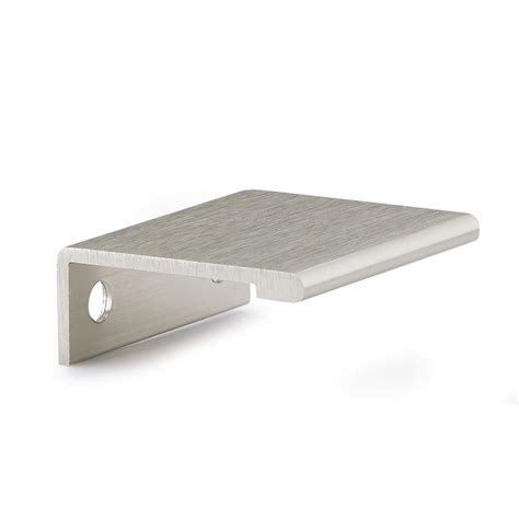 edge pull cabinet hardware richelieu hardware 33 mm satin nickel contemporary