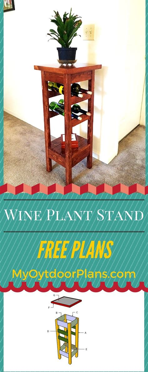 plant stand  wine rack plans diy wood projects
