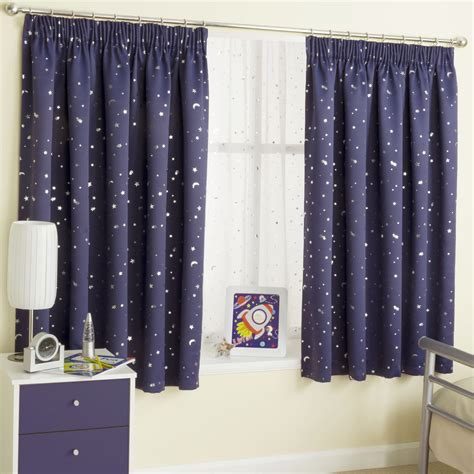 Moonlight Navy Blue Thermal Blockout Curtains Pencil