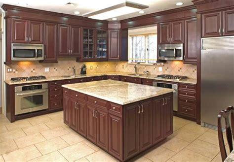 dark cherry kitchen cabinets cherry wood kitchen cabinets with black granite dark