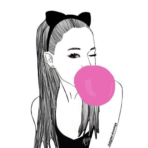 instagram outline tutorial ariana grande drawing on digitaldrxwings ig image
