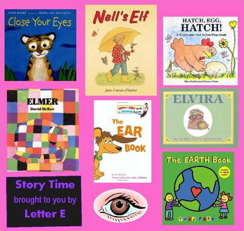 story book themes for preschool letter e books education letter activities pinterest
