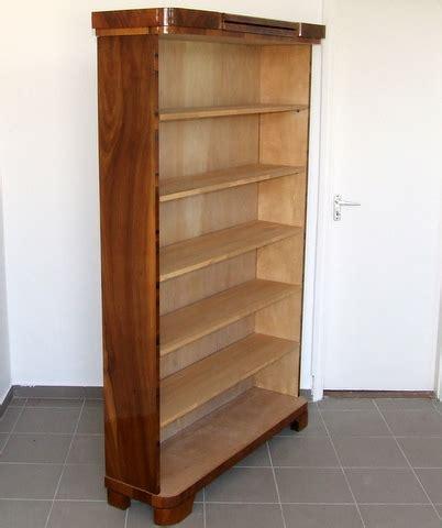 deco walnut bookcase