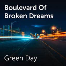 boulevard of broken dreams green day karoke green day boulevard of broken dreams sheet music for