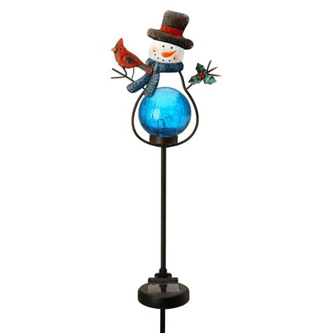 Snowman Solar Lights Moonrays Outdoor Color Changing Solar Led Metal Snowman Stake Light Discontinued 96987 On Popscreen