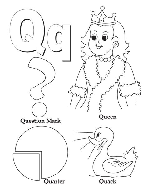 Printable Letter Q Coloring Pages by Free Printable Preschool Worksheets Letter Q Letter Q