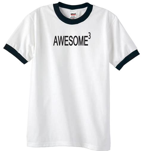 Awesome Shirts Mens Shirt Awesome Cubed Ringer T Shirt Awesome