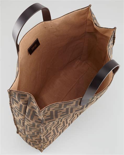 Tas Fendi Totebag fendi zucca always shopper tote bag tobaccobrown in brown lyst