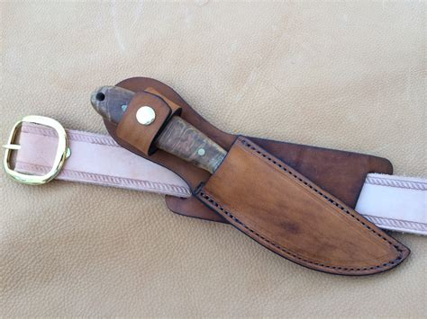 Handmade Knife Sheath - custom leather knife sheath 8 overall 5 fixed blades