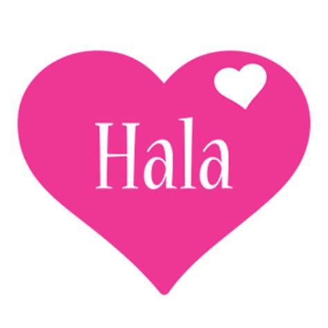 Hala Logo   Name Logo Generator   I Love, Love Heart