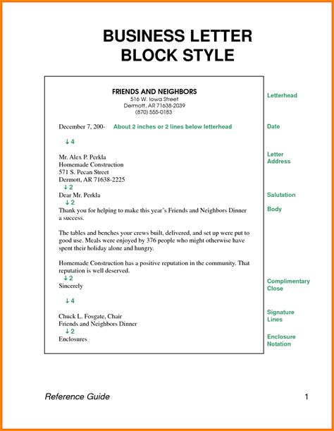 Business Letter Template With Spacing 8 Block Style Business Letter Spacing Attorney Letterheads