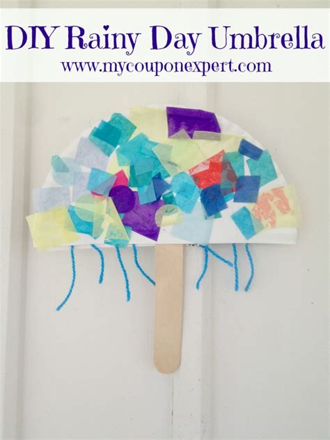 How To Make Umbrella With Paper Plate - rainy day diy paper plate umbrella for