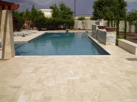 pool deck pavers remodel your pool deck using thin overlay pavers