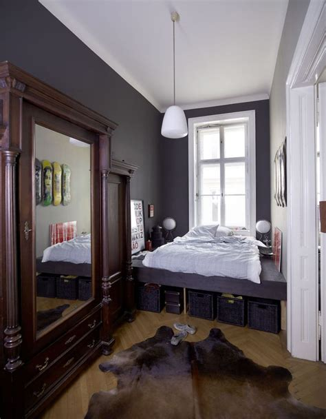 narrow bed narrow bedroom with plentiful storage options ikea