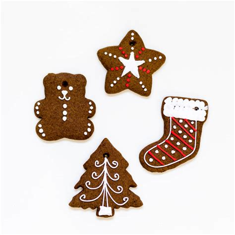 christmas gingerbread tree decorations by nila holden