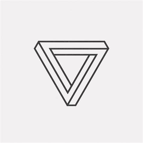 geometric triangle tattoo best 25 geometric triangle ideas only on