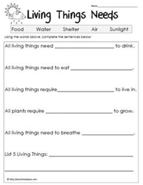 Characteristics Of Living Things Worksheet by 1000 Images About Science On Worksheets Food