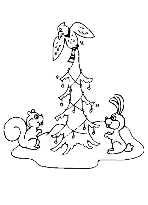 christmas animal az coloring pages